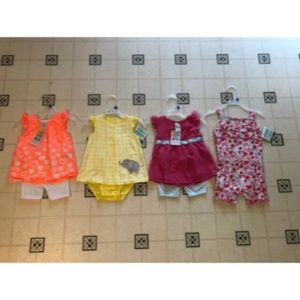 Other - Baby Girl Lot of 4 Summer Outfits Size 12M NEW!